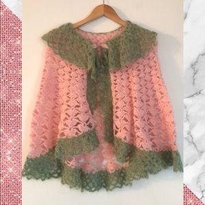 Vintage💕 Mohair Crochet cape